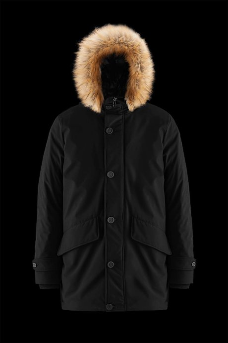 Softshell Padded Parka Faux Fur Inserts