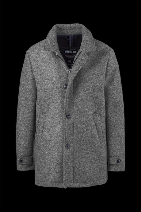 Coat Woollen Melange with Buckle