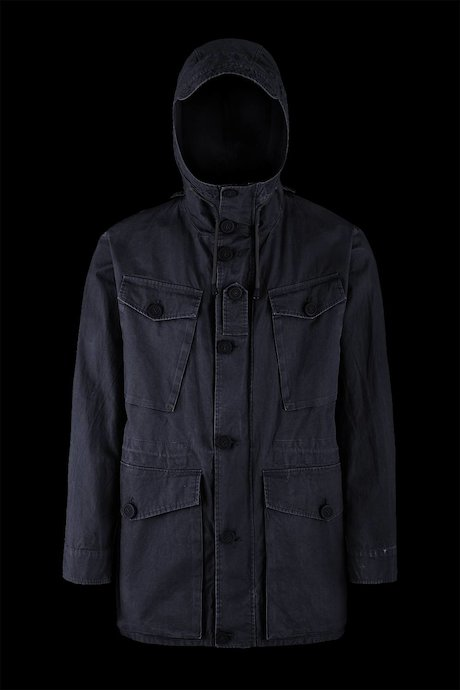 Multi pocket parka with hood