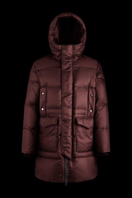 Long multipocket down jacket