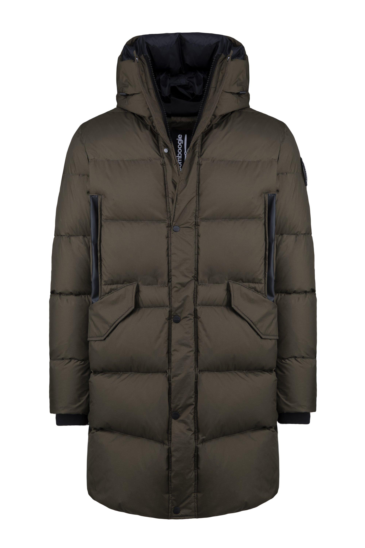 Long down jacket in nylon