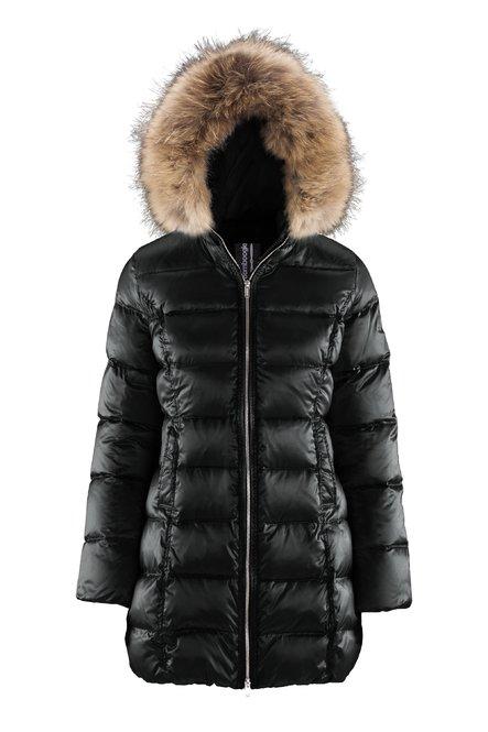 Shiny Long Down Jacket Fur Inserts
