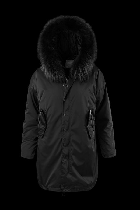 Parka Detachable Lining Fur Inserts