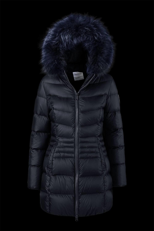 Medium Shiny Down Jacket Fur Inserts