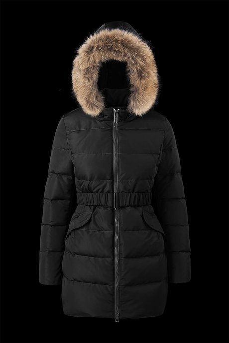 Down Jacket Belt Fur Inserts