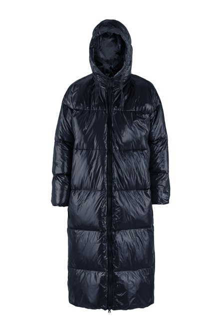Oversized laqué down jacket