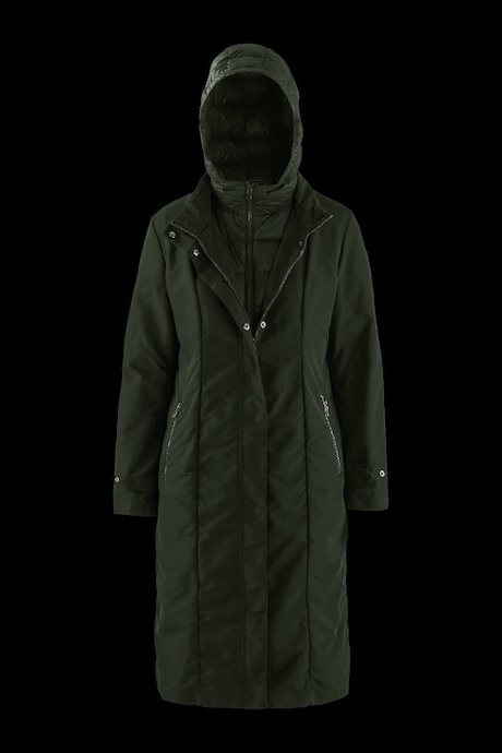 Long Down Jacket Detachable Lining