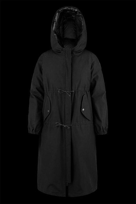 Oversized parka with inner down jacket