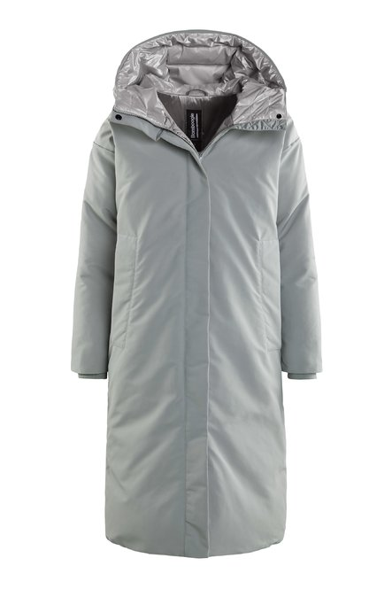 Extra long down parka with hood