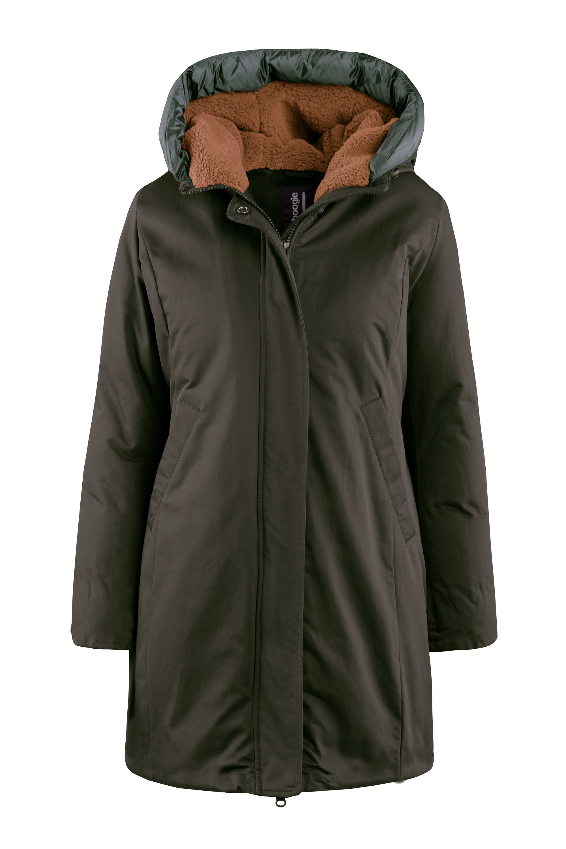 Coat faux fur lining