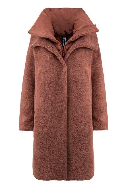 Sherpa fleece coat with over neck
