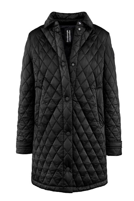 Overcoat in nylon moiré with compact filling