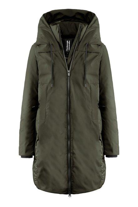 Long bi material coat with recycled PrimaLoft® filling