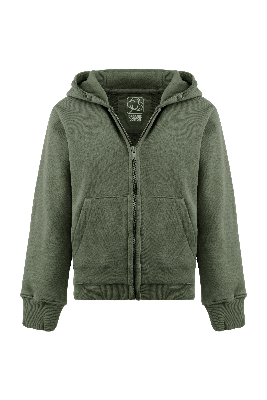 Zipped hoodie in organic cotton
