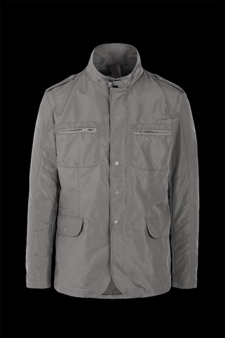 Multi pocket jacket stand up collar
