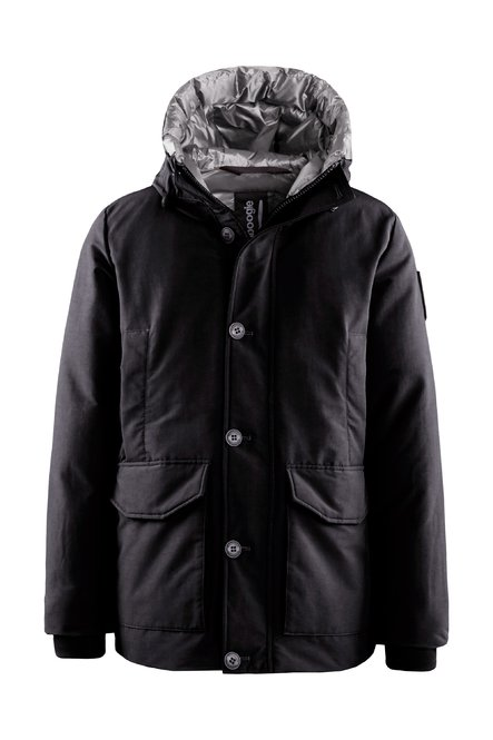 Multi-pocket down coat