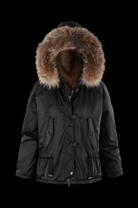 Short Parka Faux Fur Lining