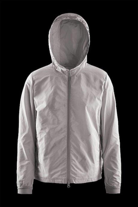 Bimaterial Jacke mit vollständiger Öffnung an den Seiten