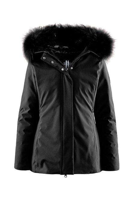 Down padded jacket fur hood profile