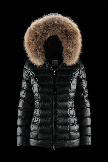 Shiny Down Jacket Fur Inserts