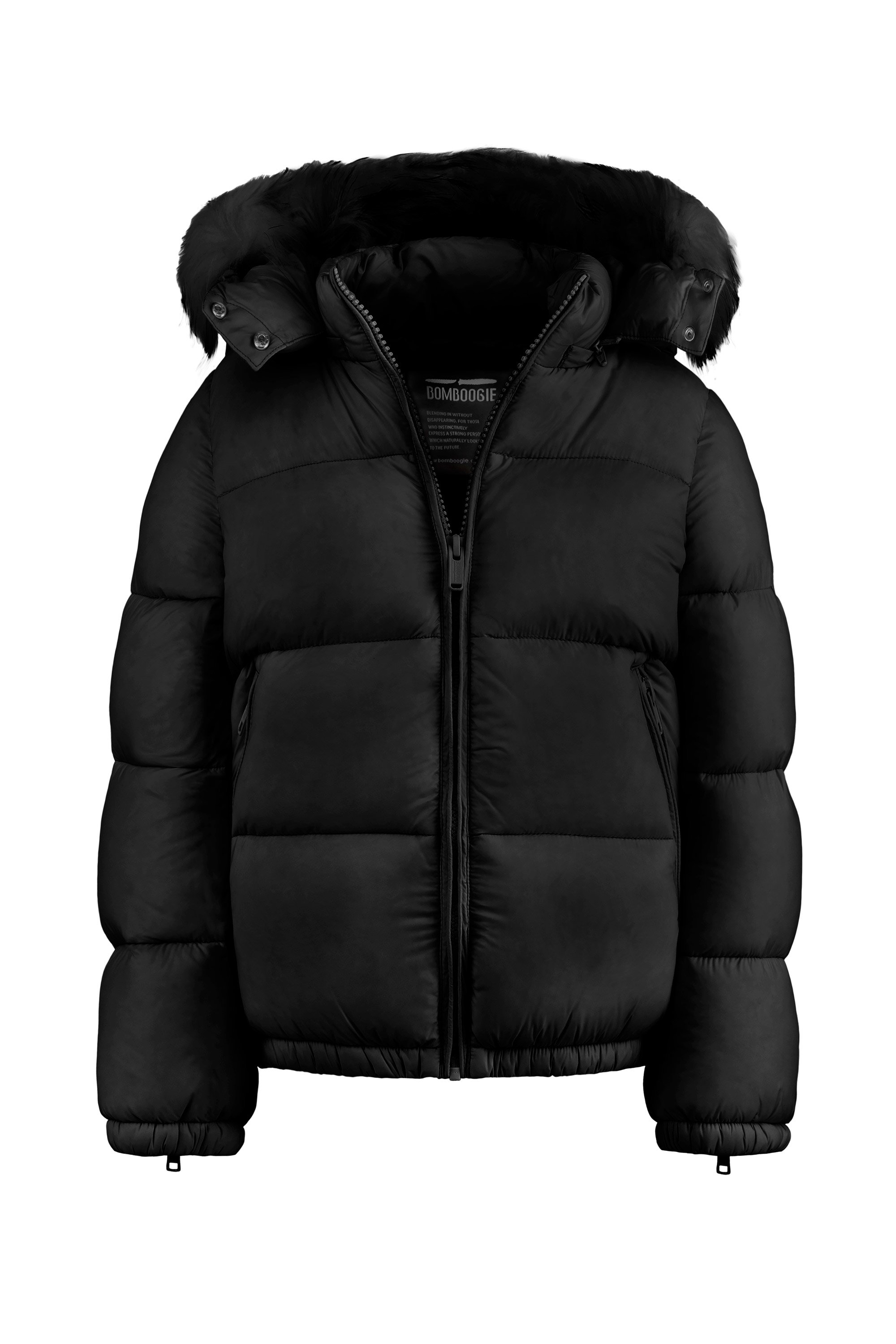 Real down jacket in nylon poplin
