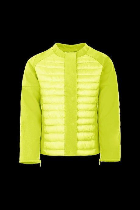 Girls' bi material down jacket