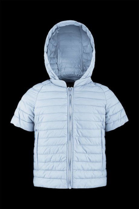Short sleeve down jacket