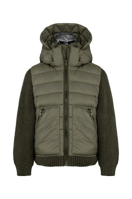 Bi material jacket in nylon-tricot