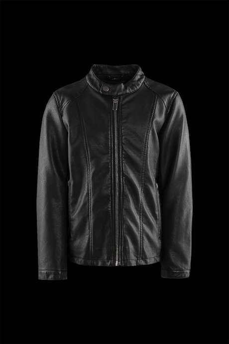 Boys' jacket in faux leather