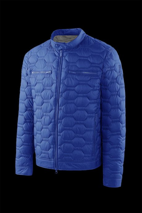 Nylon poplin down jacket