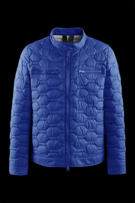 Nylon poplin down jacket