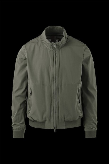Unlined bomber matt fabric