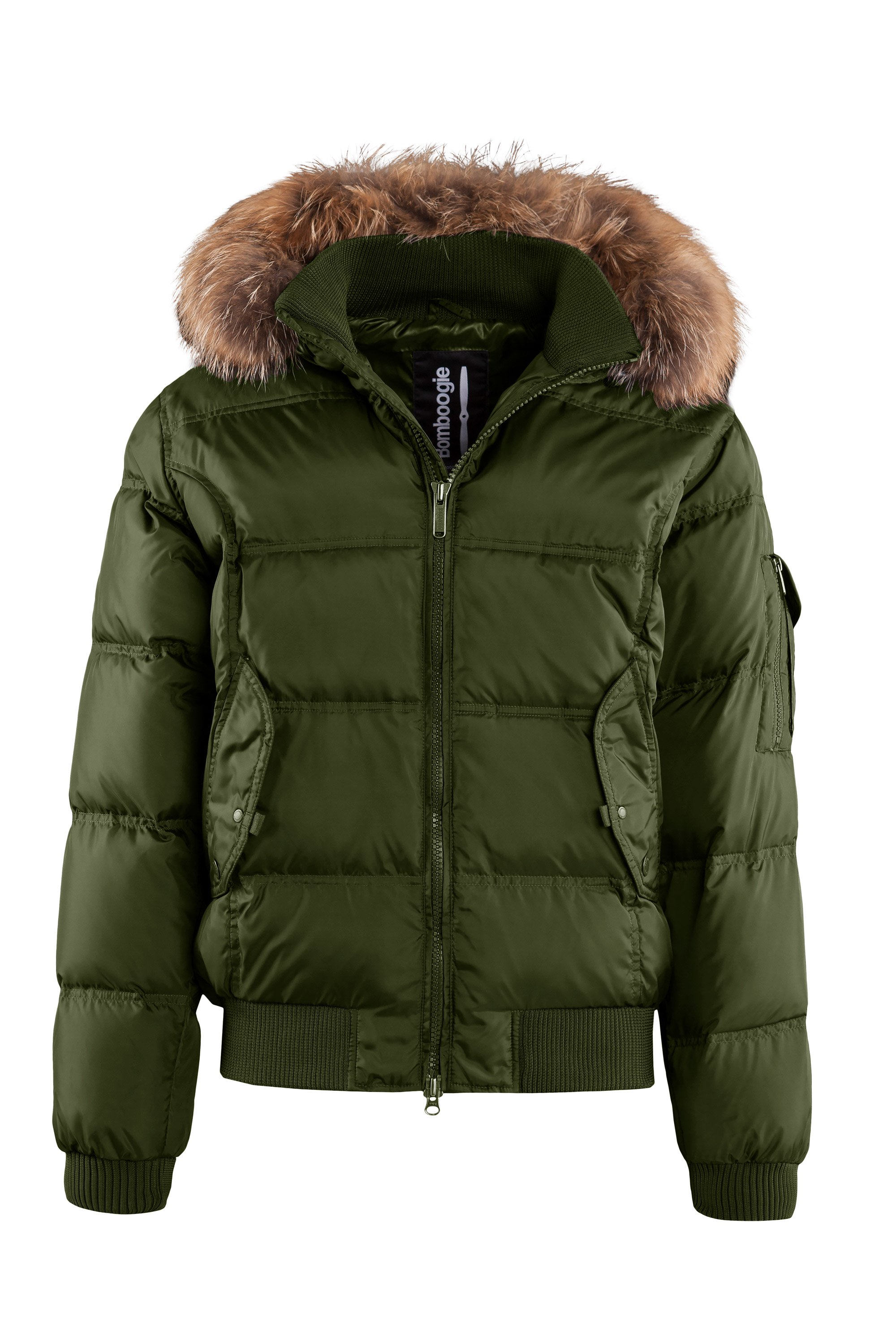 Real down bomber with fur hood