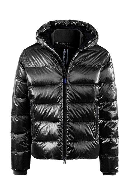 Down jacket metallic nylon