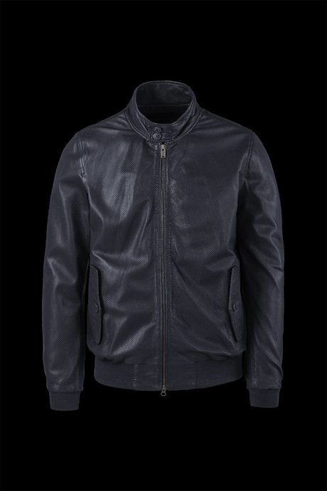 Pierced leather bomber jacket Dafi