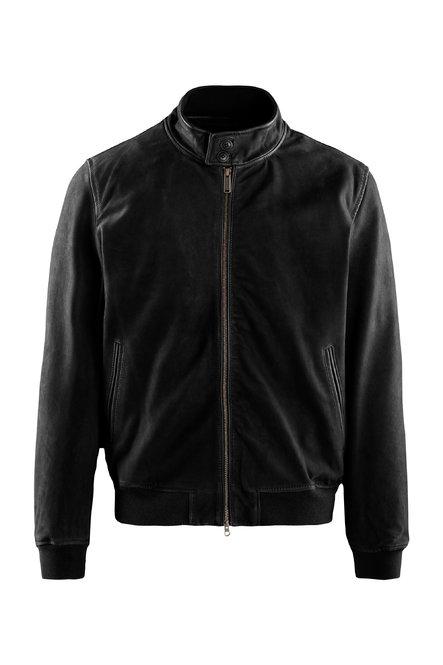 Friz nabuk leather bomber jacket
