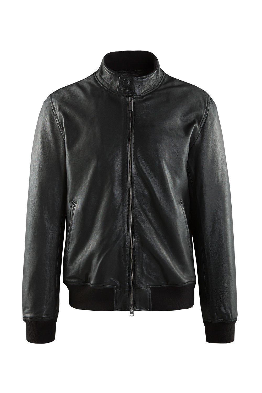 Friz leather bomber jacket