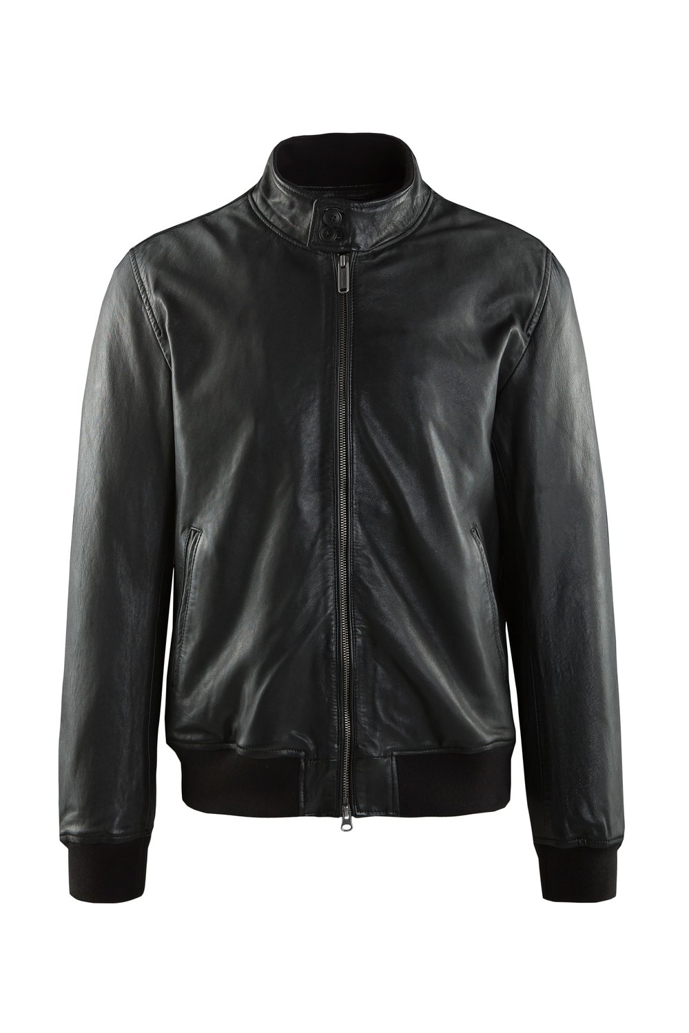 Friz leather bomber jacket