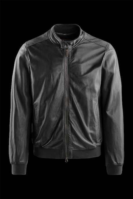 Friz leather jacket garment washed