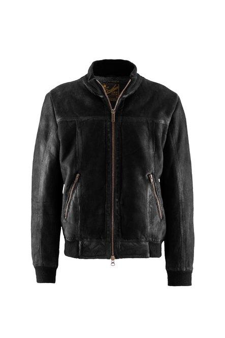 Glen nabuk leather bomber jacket