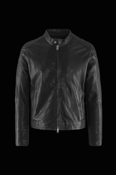 Man's leather jacket Hall