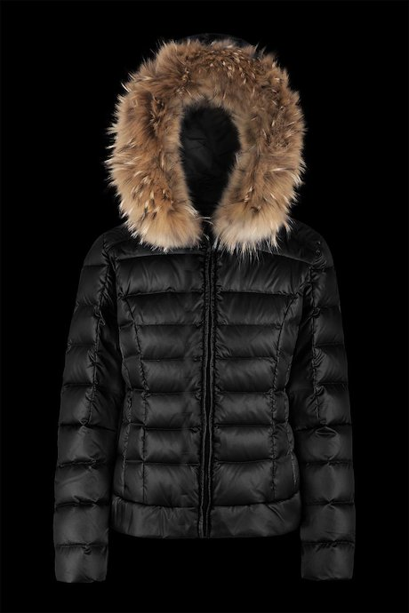 Shiny Down Jacket Fur Inserts