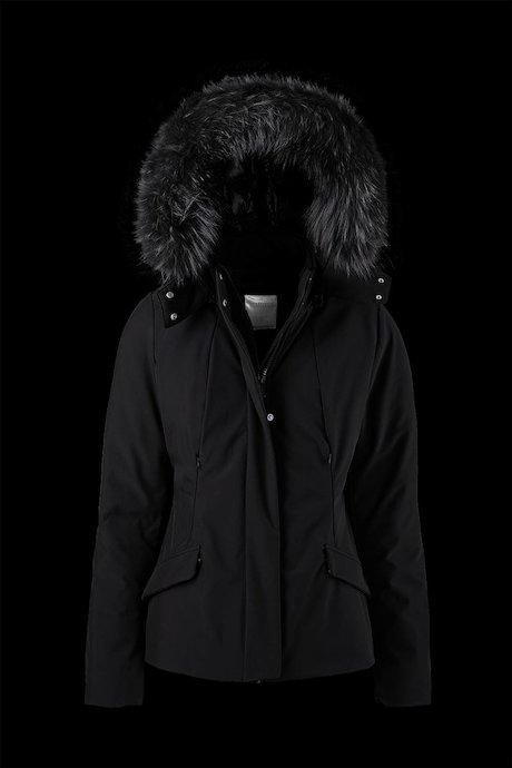 Short Softshell Parka Detachable Hood