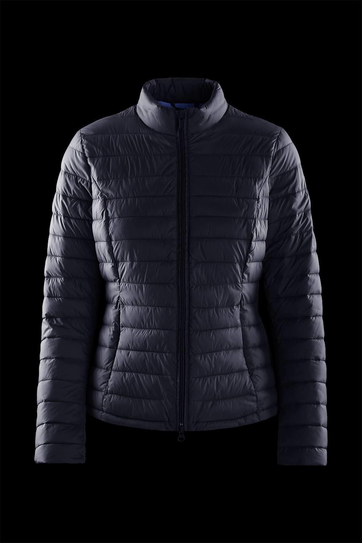 Nylon poplin down jacket with side tears