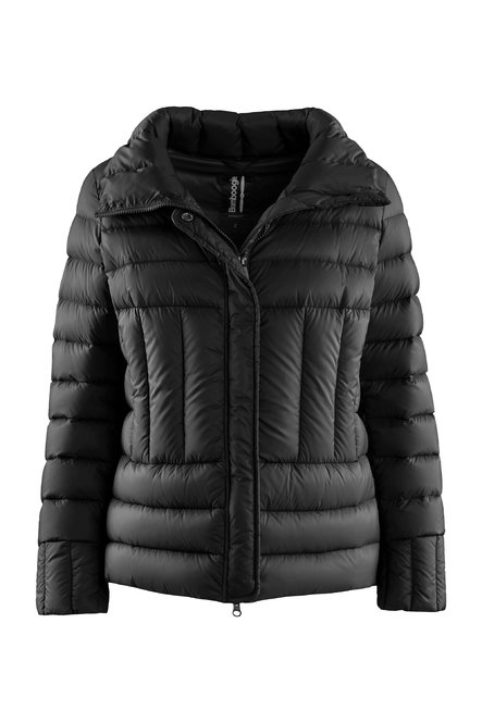 High collar down jacket in nylon