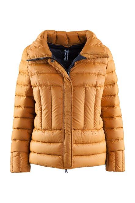 High collar down jacket in nylon