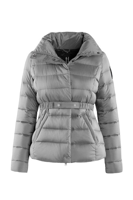 Down jacket in nylon moiré