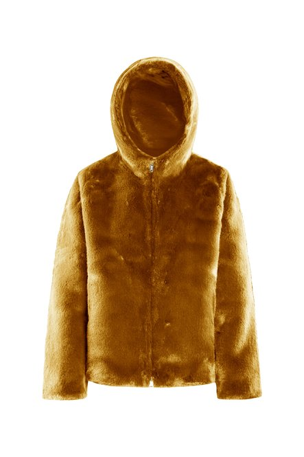 Faux fur short coat