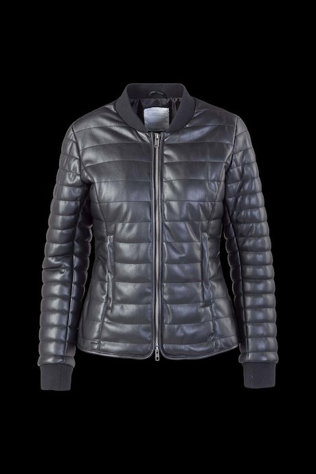 Faux Leather Down Jacket Lush