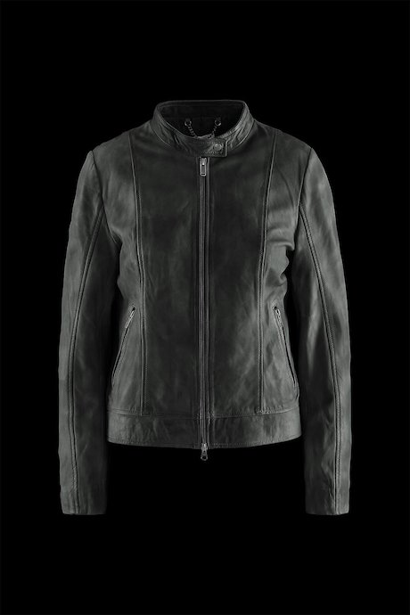 Woman's leather jacket Mojy